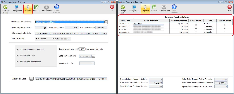 Modulo Desktop - Faturamento - Gerar Arquivo Remessa - wiki